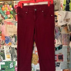 Kut From The Kloth Red Skinny Jean Size 8